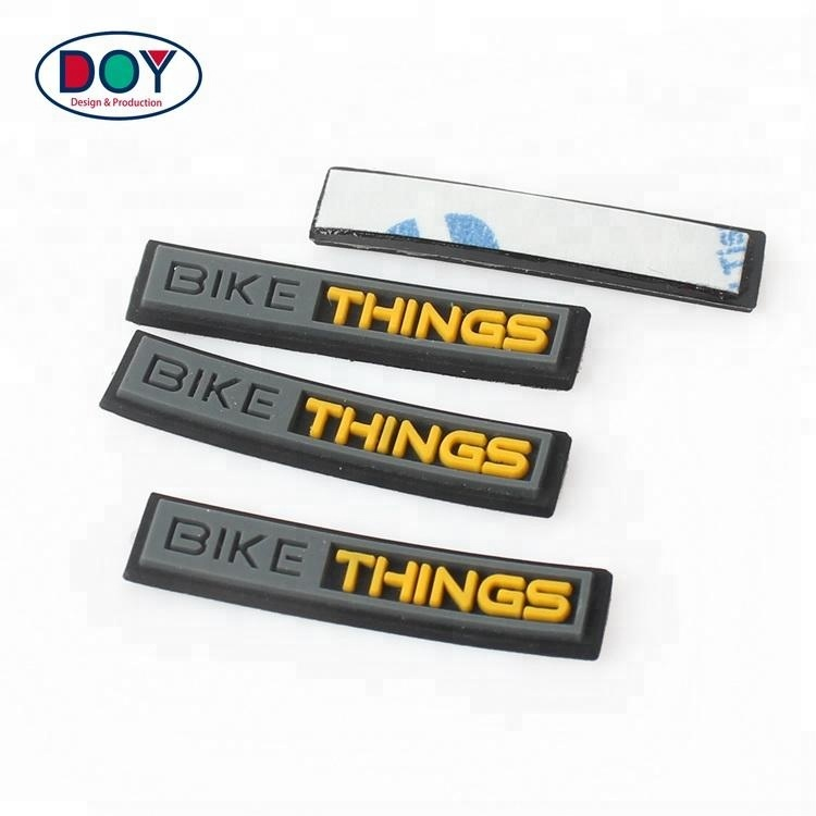 Custom 3D Embossed Name Logo Soft PVC Rubber Patch